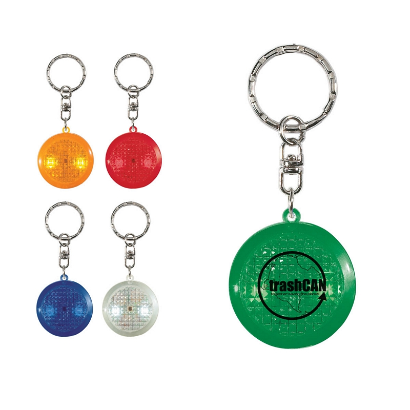 Customized Round Soft Touch Led Key Chain