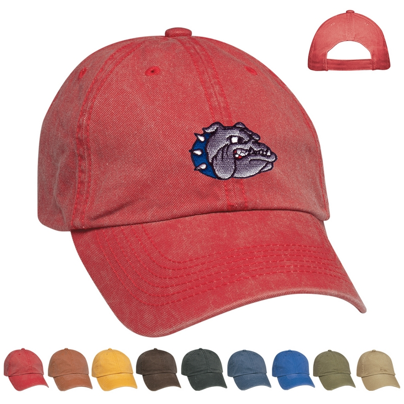 Customized Embroidered Washed Cap   Promotional Caps   Customized Caps