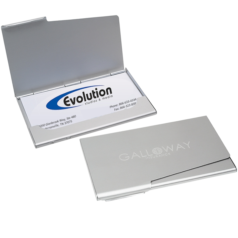 Customized pocket business card holder promotional for Promotional business card holder