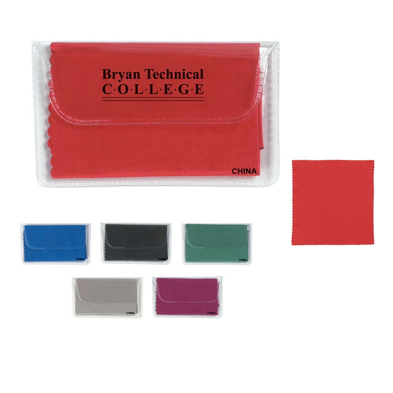 Microfiber Screen Cleaning Cloth Promotional: Customized Microfiber Cleaning Cloth In Case