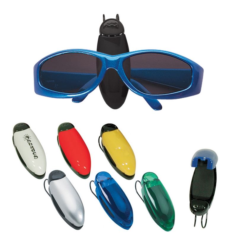 customized car visor eyeglass sunglass holder clip