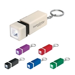 Promotional Key Chains: Customized Push-In Push-Out LED Key Chain