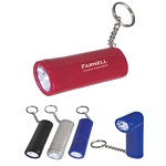 Promotional LED Key Chains: Customized Swivel Top LED Light with Key Chain