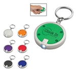 Promotional Key Chains: Customized Round Squeeze LED Key Chain