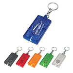 Promotional Key Chains: Customized Rectangular LED Light Key Chain