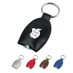 Promotional Key Chains: Customized Leather Look Led Key Tag