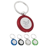 Promotional Key Chains: Customized Round Metal Light Key Tags