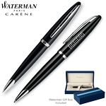 Customized Waterman Carene Black Sea ST Ballpoint Pen