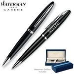 Customized Waterman Carene Black Sea ST Roller Ball Pen
