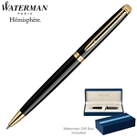 Customized Waterman Hemisphere Black GT Ballpoint Pen