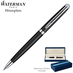Customized Waterman Hemisphere Matte Black CT Ballpoint Pen