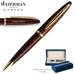 Customized Waterman Carene Marine Amber Ballpoint Pen
