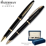 Customized Waterman Carene Black Sea GT Roller Ball Pen