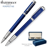 Customized Waterman Perspective Blue CT Roller Ball Pen