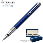 Customized Waterman Perspective Blue CT Ballpoint Pen