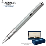 Customized Waterman Perspective Silver CT Ballpoint Pen