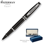Customized Waterman Expert Lacquer Black CT Roller Ball Pen