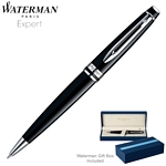Customized Waterman Expert Lacquer Black CT Ballpoint Pen