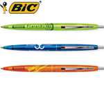 Customized Pens: BIC Clic Clear Pens with Chrome Trim