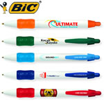 Customized Pens: BIC WideBody with Color Rubber Grip Pen