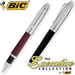 Customized Pens: BIC Leather Roller Ball Pen Two-Piece