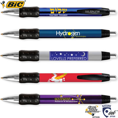 Customized Pens: BIC Wide Body Chrome Pen with Grip