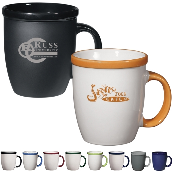 Customized 12 Oz Vista Coffee Mug Promotional Ceramic