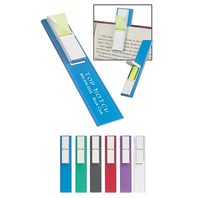 Promotional Bookmarks: Customized Bookmark Ruler with Pop Up Sticky Flags