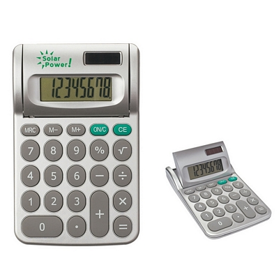 Promotional Calculators: Customized Adjustable Solar Powered Calculator