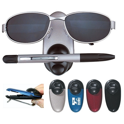 Promotional Sunglass Holders: Customized Dual Sunglasses and Pen Holder Sun Visor Clip