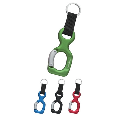 Promotional Carabiners: Customized Aluminum Bottle Shape Carabiner