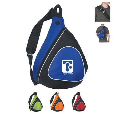 Promotional Sling Bags: Customized Sling Two-Tone Backpack with Black Trim