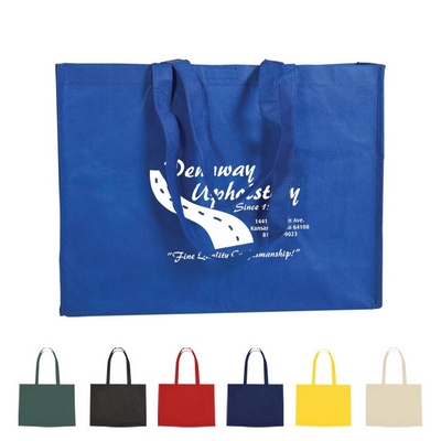 Promotional Grocery Shopping Bags: Customized Non-Woven Shopper Tote with Velcro Closure