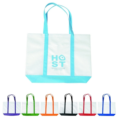 Promotional Tote Bags: Customized Non-Woven Tote with Trim Colors