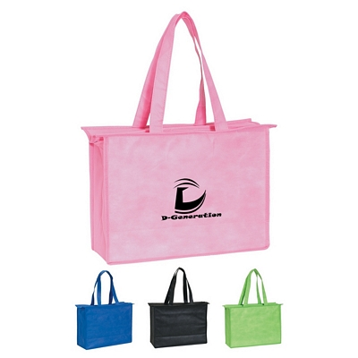 Promotional Tote Bags: Customized Non-Woven Zippered Tote