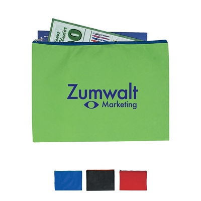 Promotional Document Bags: Customized Non-Woven Document Sleeve with Zipper