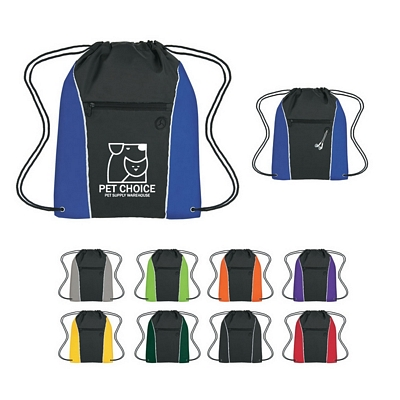 Promotional Drawstring Bags: Customized Vertical Sports Drawstring Pack