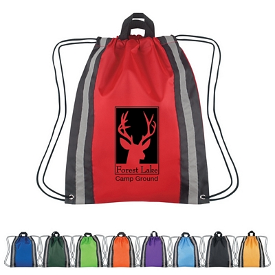 Promotional Drawstring Bags: Customized Large Reflective Hit Sports Drawstring Backpack