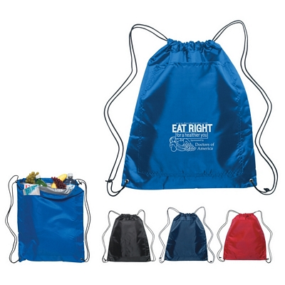 Promotional Drawstring Bags: Customized Insulated Drawstring Sports Backpack