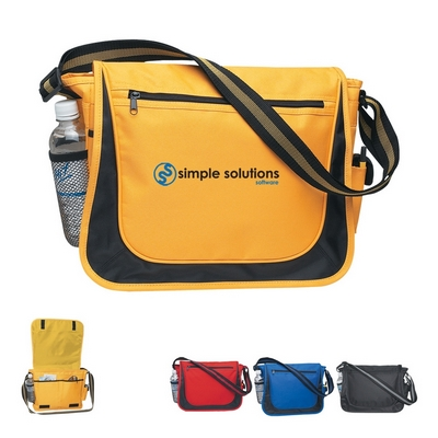 Promotional Messenger Bags: Customized Messenger Bag with Matching Striped Handle