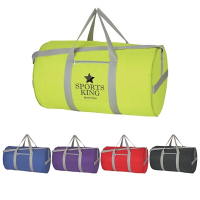 Promotional Duffel Bags: Customized Fun Style Large Budget Duffle Bag