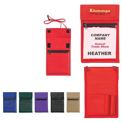 Promotional ID Holders: Customized NonWoven Neck Wallet Badge Holder