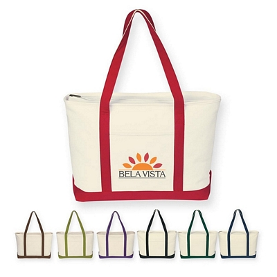 Promotional Tote Bags: Customized Large Heavy Cotton Canvas Boat Tote Bag