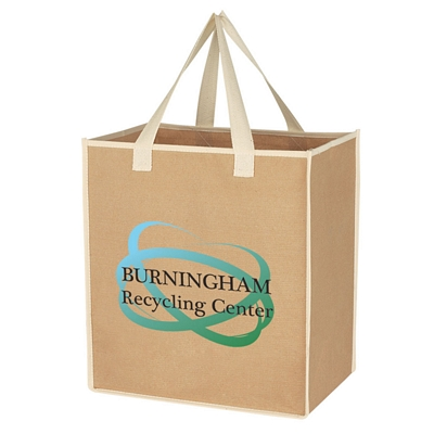 Promotional Shopping Tote Bags: Customized Medium Craft Paper Laminated Polypropylene Shopper Tote Bag