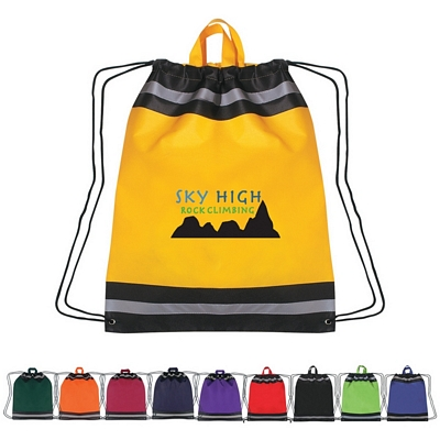 Promotional Drawstring Bags: Customized Non-Woven Reflective Sports Drawstring Backpack