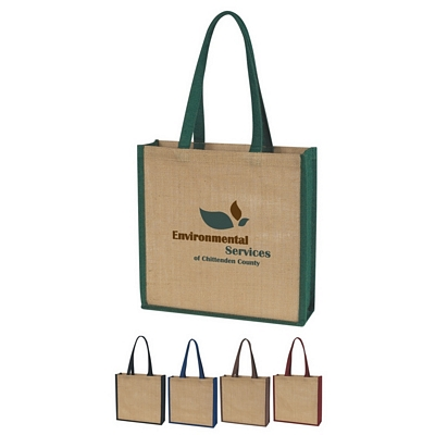 Promotional Tote Bags: Customized Jute Beach Tote Bag