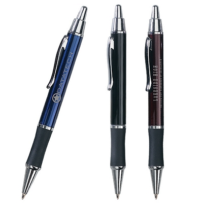 Promotional Metal Pens: Customized Classic Metal Rubber Grip Retractable Pen