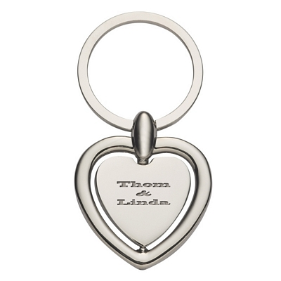 Promotional Key Chains: Customized Heart Spinning Metal Key Tag
