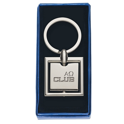 Promotional Key Chains: Customized Square Spinning Metal Key Tag