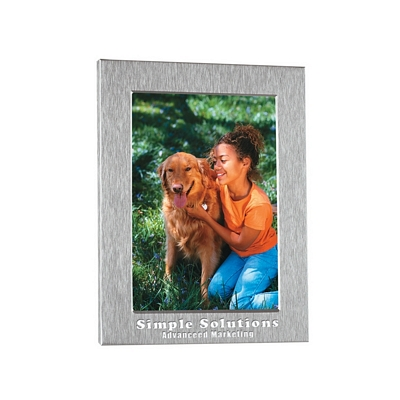 Promotional Picture Frames: Customized 4x6 Silver Photo Frame